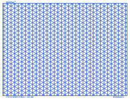 Isometric Grid - Graph Paper, 4/inch Blue, Full Page Land A4