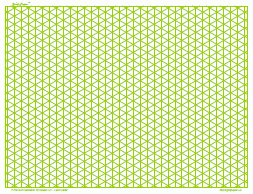 isometric grid graph paper 5 inch green full page land legal
