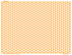 graphic about Isometric Paper Printable titled Printable Isometric Paper, 4/inch Orange, Comprehensive Web page Land A3